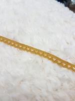 Кружево хлопковое 7 мм, горчичный