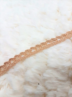 Кружево хлопковое 7 мм, желтовато-коричневый