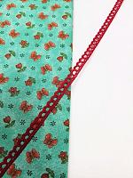 Кружево хлопковое 7 мм, красное