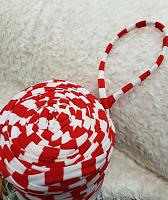 Трикотажная пряжа Maccheroni, цвет красный/белый