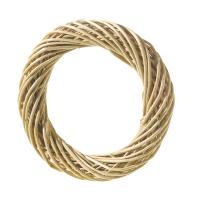 Венок из ивовых очищенных прутьев, 20 см