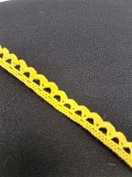 Кружево хлопковое 7 мм, желтый