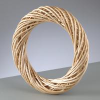 Венок из ивовых очищенных прутьев, 30 см