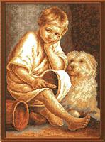 """Рисунок на канве 37х49см арт.853 """"Мальчик"""""""