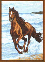 "Рисунок на канве 37х49см арт.587 ""Бегущий по волнам"""