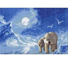 """Рисунок на канве 37х49см арт.531 """"Мишки на Севере"""""""