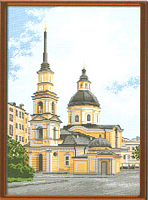 """Рисунок на канве 37х49см арт.835 """"Церковь Симеона и Анны"""""""