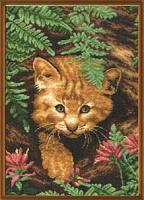 """Рисунок на канве 37х49см арт.584 """"Лесной домик"""""""