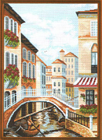 """Рисунок на канве 37х49см арт.661 """"Венеция"""""""