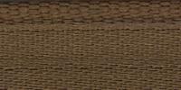 Молния RIRI металл. GO, 6 мм, 18 см, на атласной тесьме, неразъемн., тип подвески FLASH, цвет 2223 светло-коричневый