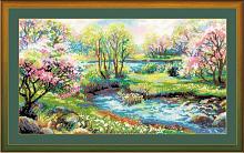 """Набор для вышивания арт.СС-1332 Б """"Царство весны"""" 41х23 см"""