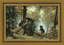 """Набор для вышивания арт.СС-536 Б """"И. Шишкин. Утро в сосновом бору"""" 38Х26 см"""