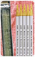 Спицы пластиковые прямые чулочные 401-7, ADDI