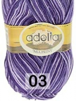 Adelia «MIA PRINT» №  03 св.фиолетовый-фиолетовый