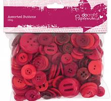 Набор пуговиц  ассорти, красные