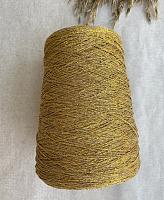 Люрекс (80%вискоза, 20%п-амид, 7.5м/1г) коричневый с золотым люрексом