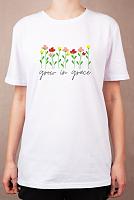 """Раскраска на футболке """"Растущий в мире"""""""
