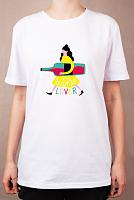 """Раскраска на футболке """"Девушка с настроением"""""""