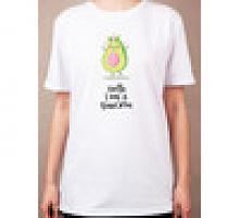 """Раскраска на футболке """"Милый авокадо"""""""