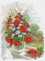"""Рисунок на канве 37х49см арт.1687 """"Полевые цветы"""""""