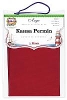 Канва в упаковке Aida 14 ct, 65 х 50 см, цвет ярко-красный