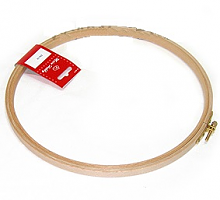 Пяльцы круглые с замком, высота обода 12 мм, диаметр 30,5 см