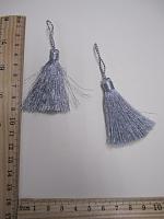 Кисть металлизированная, цвет серебро, 9 см