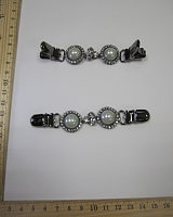 Застежка на кардиган, 110х20 мм, темный никель