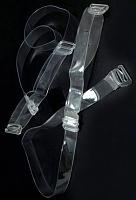 Бретели для бюстгальтера прозрачные, 10мм