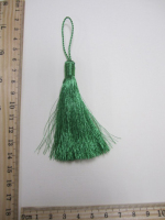 Кисть металлизированная, цвет зеленый, 13 см