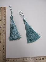Кисть металлизированная, цвет голубой, 13 см