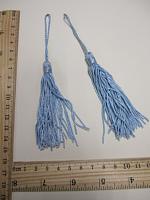 Кисть, цвет голубой, 15 см