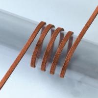 Шнур тёмно-коричневый из алькантары, 3м