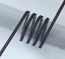Шнур из алькантары, 3м черный