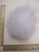 Помпон из меха песца, белый, 16 см.