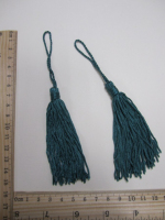 Кисть, цвет сине-зеленый, 15 см