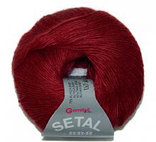 Пряжа Сетал (Setal), цвет 8810 вишневый