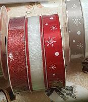 Набор новогодних лент красный