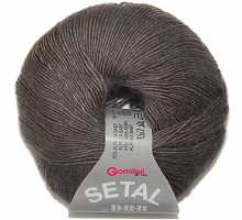 Пряжа Сетал (Setal), цвет 0017 кофейный