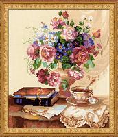 """Набор для вышивания 1302 """"Цветочный этюд"""" 30x35 см"""