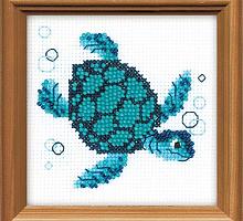 """Набор для вышивания арт.СС-1290 СР """"Морская черепаха"""" 10x10 см"""