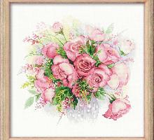"""Набор для вышивания 1335  """"Акварельные розы"""" 30х30 см"""