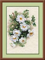 """Набор для вышивания арт.СС-1351 Б """"Белый шиповник"""" 21х30 см"""