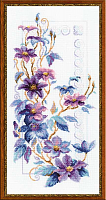 """Набор для вышивания 1279  """"Изящные клематисы"""" 25x50 см"""