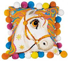 """Набор для вышивания арт.СС-1380 Подушка""""Златогривая лошадка"""" 30х30 см"""