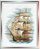 """Набор для вышивания арт.СС-479 Б """"Корабль"""" 30x40 см"""