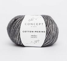 Пряжа Cotton-Merino, цвет 107 темно-серый
