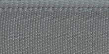 Молния riri атлас. никель, неразъем., 1замок 6мм,16см, тип подвески FLASH,  цвет сине-серый