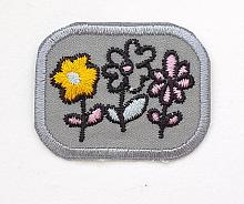 Термоаппликация цветочки, 3 х 4 см