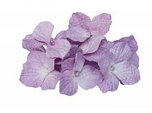 Букетик гортензии, фиолетовый, 10 цветочков